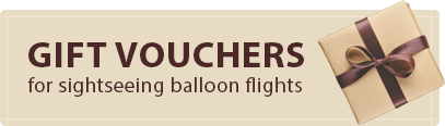 gift vouchers for sightseeing balloon flights